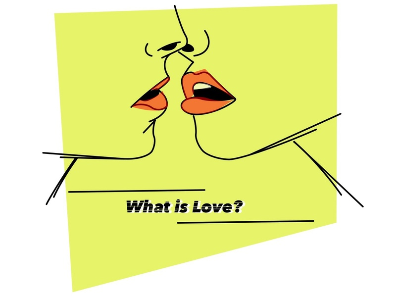 What is Love? minimal illustraion lesbian gay desire eighties amore relationship relation divine delicious haddaway deee lite passion kissing kiss lips love 80s 2d