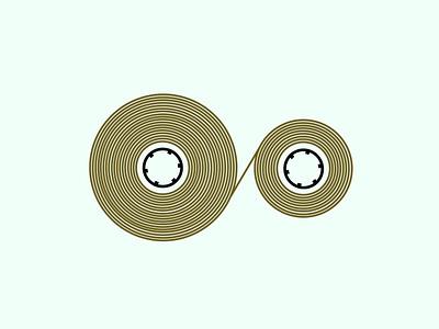 Tape recorder music sound cassette tape cassette analog stereo audio 80s style 80s vintage retro 2d illustration