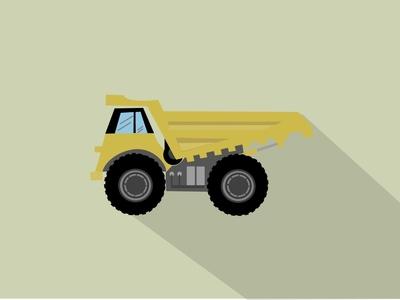 Truck transport wagons vecor cargo industry vehicle motor 2d illustration