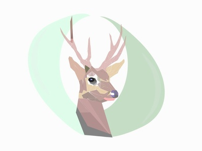 Deer horns wild animals hornets wild animal wood mascote 2d deer logo deer animal art animal illustration