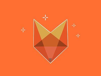 Fox logo entity mark 2d illustration