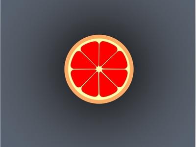 Orange slice lemon grapefruit juice orange slice 2d illustration