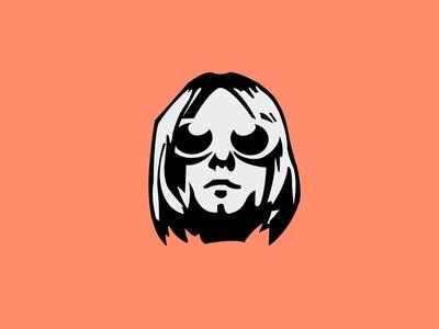 Kurt seattle rock band rock 2d illustration