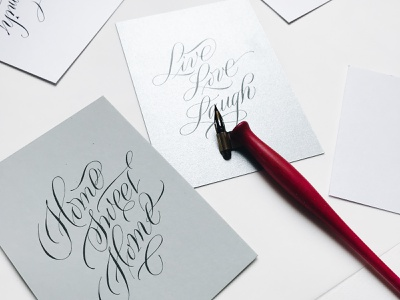 pointed pen calligraphy calligraphy card