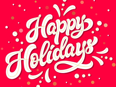 Happy holidays! typography vector design illustration card calligraphy hand lettering