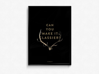 Dumb Client Comments Pt. 1 poster antlers vintage minimal typography black gold
