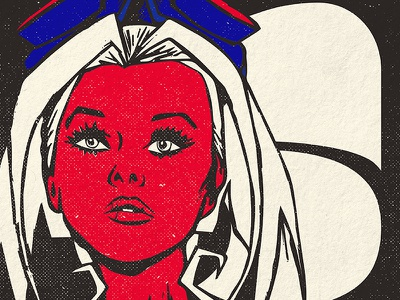 Punk Girl Illustration girl illustration grunge screen print red gig poster punk
