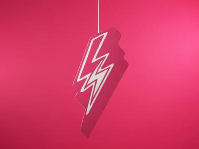 Lynchstock 2017 Logo physical white pink festival music lynchstock bolt lightning