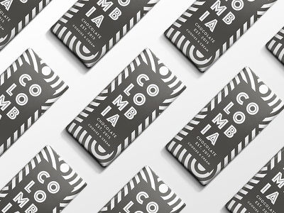 Colombia Chocolate white black candy south america geometric packaging chocolate