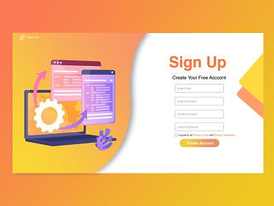 SignUp page webuiuxdesign ui adobe photoshop design