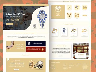 Jewellery store webuiuxdesign adobe xd ui design