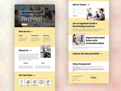 MediPage website design graphic design ui xd adobe