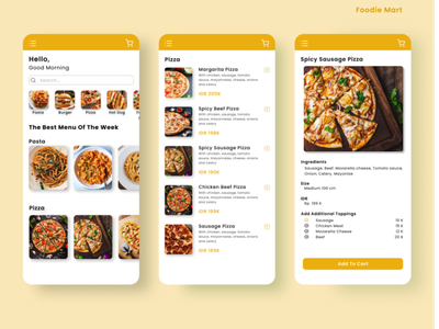 Foodie Mart ui design mobileui mobiledesign designmobile ui ux web mobile design app onlinestore onlineshop uiuxdesign uiux design