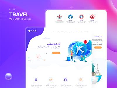 Travel Service Website UI/UX Design design ui  ux visa travelwebsite uidesign ui webui webdesign travel agency