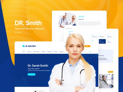 Personal Dentist UI/UX Website Design personal project dental websites dentist uiwebsite userinterface ui ui  ux uidesign webdesign