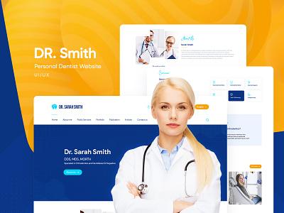 Personal Dentist UI/UX Website Design personal project dental websites dentist uiwebsite userinterface ui ui  ux uidesign webdesign
