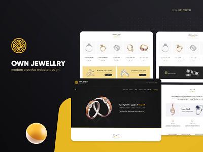 Own Jewelry UI/UX Website Design minimal uidesign webdesign webui ui  ux ui