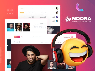 Concert UI/UX Website Design musicweb websiteui webdesign concert uimusic music webui ui  ux ui uidesign