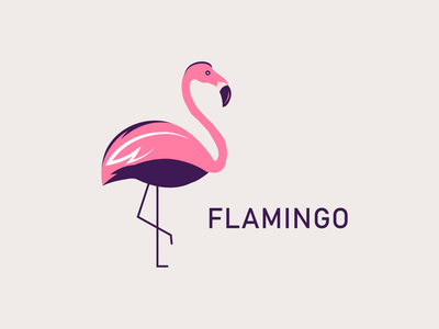 FLAMINGO CONCEPT flamingo flamingo logo logo minimal logo design illustrator design branding