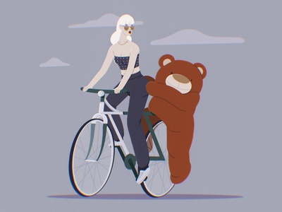 Funny ride 2d character heyymazie veronika-vieyra art procreate illustration