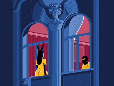From Saint-Petersburg with love. windows. facade building architecture characters with love love postcard
