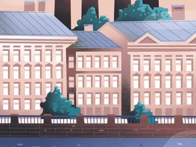 Saint-Petersburg procreate flat design saintpetersburg spb city illustration
