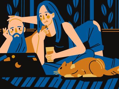 evening mood art eveninng mood illustration