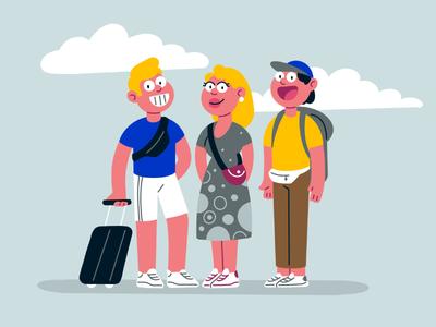 travelers smetanatv art procreate 2d flat design character illustration