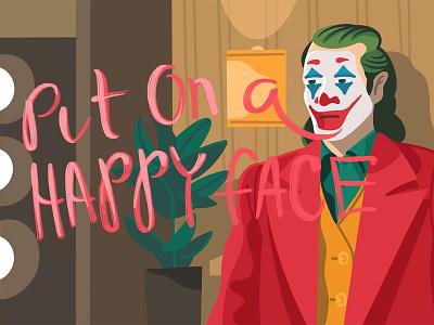 Put on a happy face joker art joker procreate character illustration