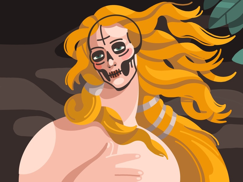 Nascita di Venere botticelli dribbbleweeklywarmup procreate illustration