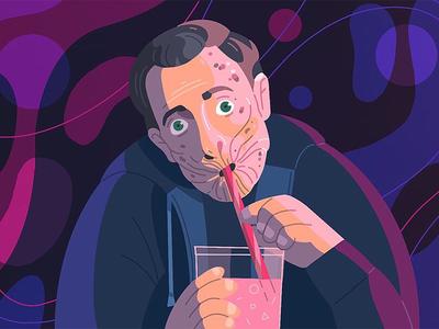 Arseface. Preacher series funart series preacher arseface art procreate 2d character illustration