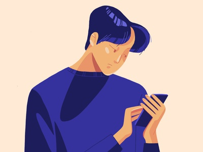 guy with phone ipadpro sketch procreate pro painting ipad illustration digitalillustration character