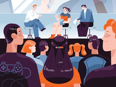 Game conference 2d digital design digital art character game illustration