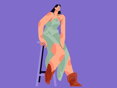 model girl fashion girl 2d graphic digitalillustration procreate character illustraion