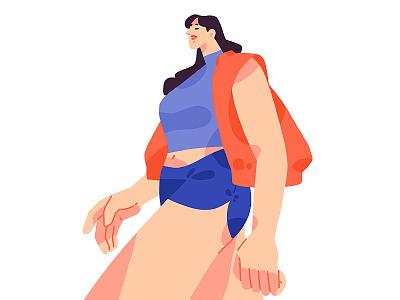 beautiful girl digital art 2d flat girl character digitalillustration procreate illustration