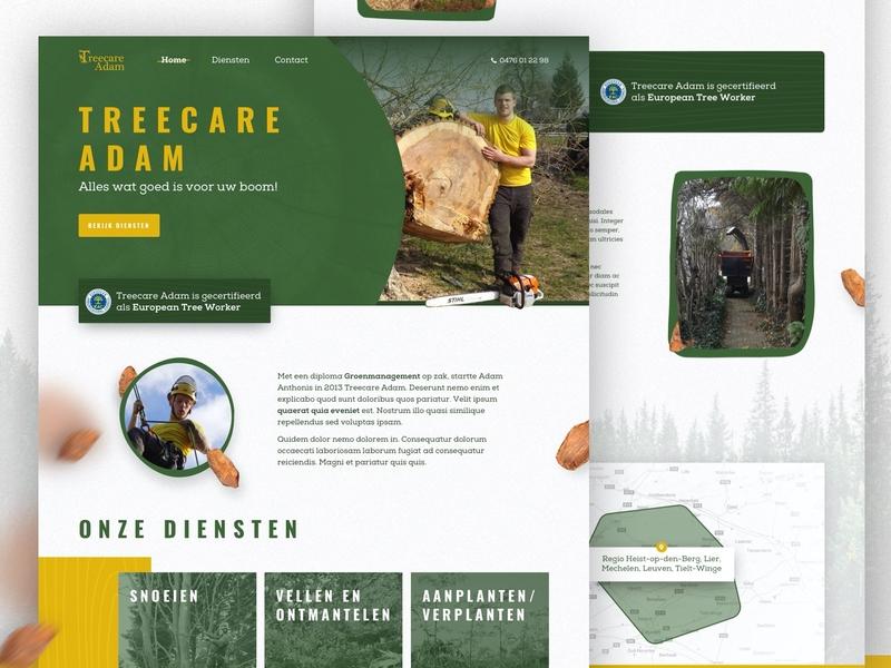 TreecareAdam website ui