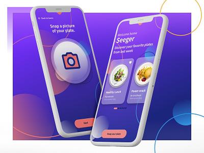 Healthy Lunch mobile ui mobile app mobile neumorphism app ui