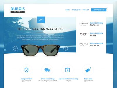 Optics Website website webshop optics ui blue