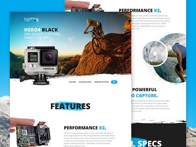 GoPro Redesign webdesign