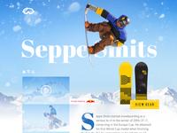 Snowboard UI - Sketch Freebie