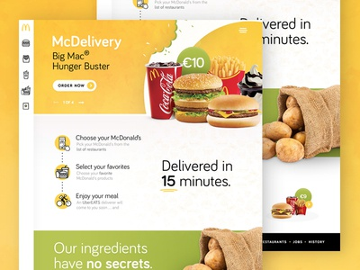 McDonald's landingpage