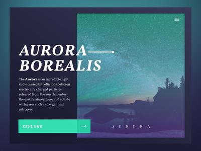 Aurora Borealis ui clean sketch