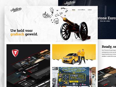 Artillerie Rebranding branding portfolio website