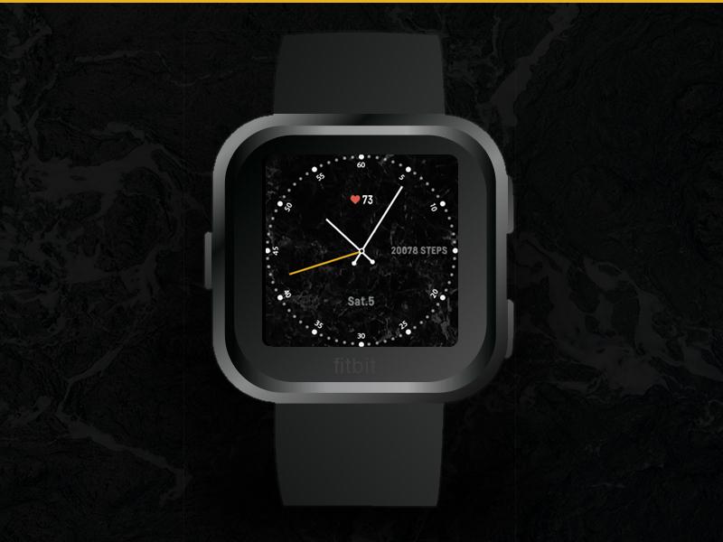 Fitbit clockface marble versa clockface fitbit