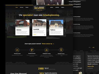 Van Woensel Website webdesign sketch web website logo ui clean
