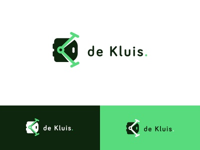 de Kluis logo branding typography vector logo