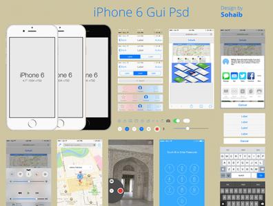 IPhone 6 Gui App creative design mobile app design mobile ui mobile app app design app