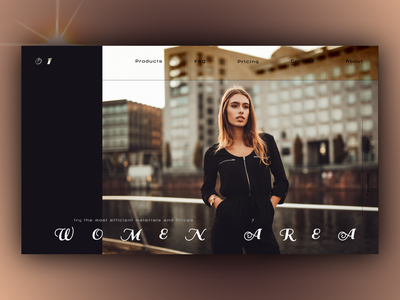 Women Area website figma branding ux web design