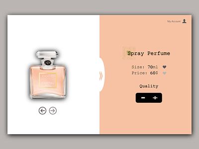 Perfume 1 branding web design
