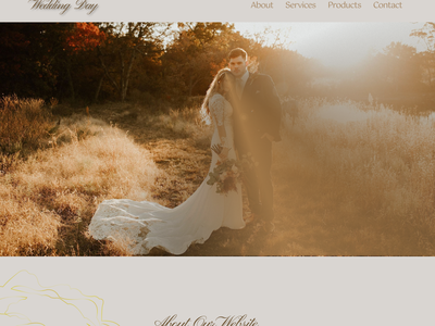 Wedding Day web branding design